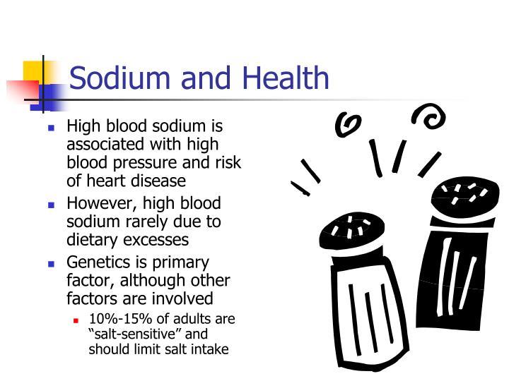 Sodium and Health