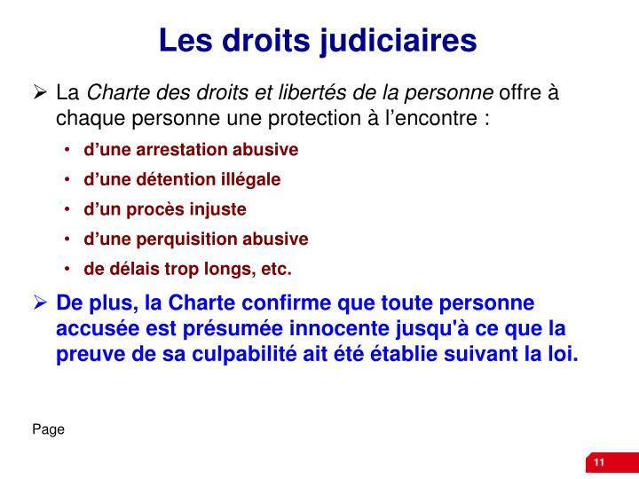 Les droits judiciaires
