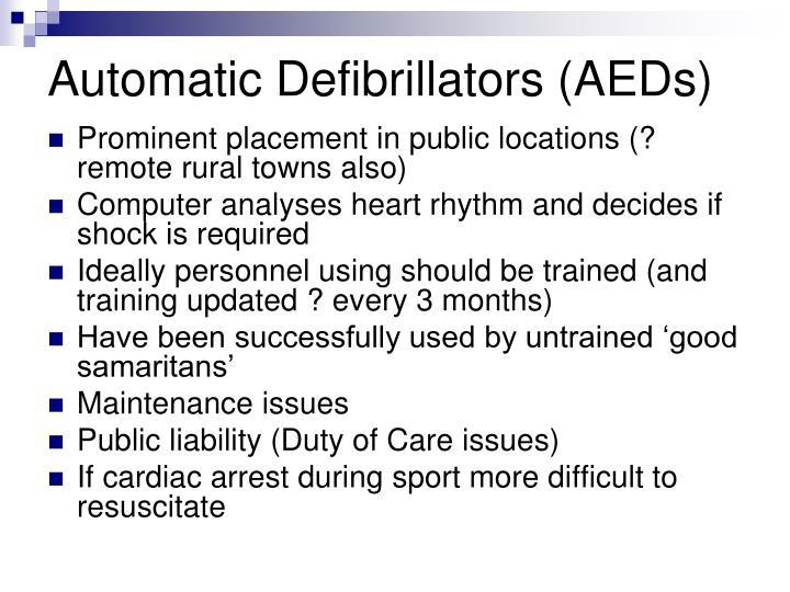 Automatic Defibrillators (AEDs)