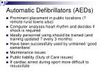 automatic defibrillators aeds