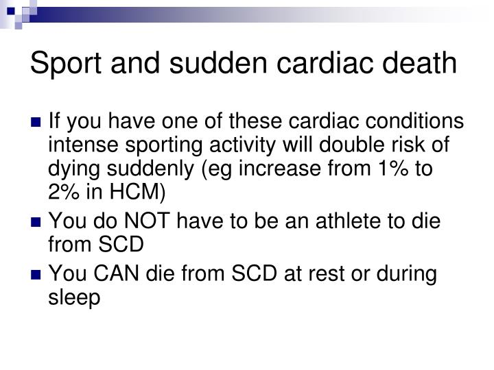 Sport and sudden cardiac death