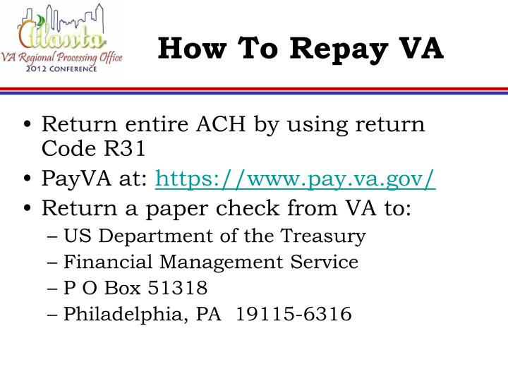 How To Repay VA