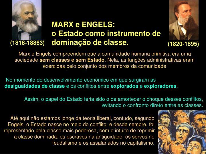 MARX e ENGELS: