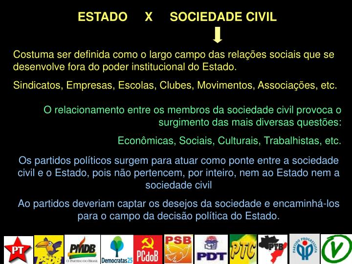 ESTADO     X     SOCIEDADE CIVIL