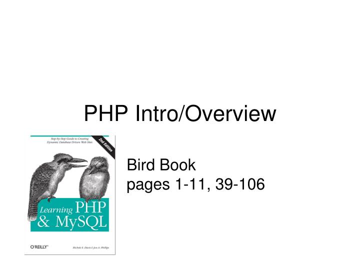 Php intro overview