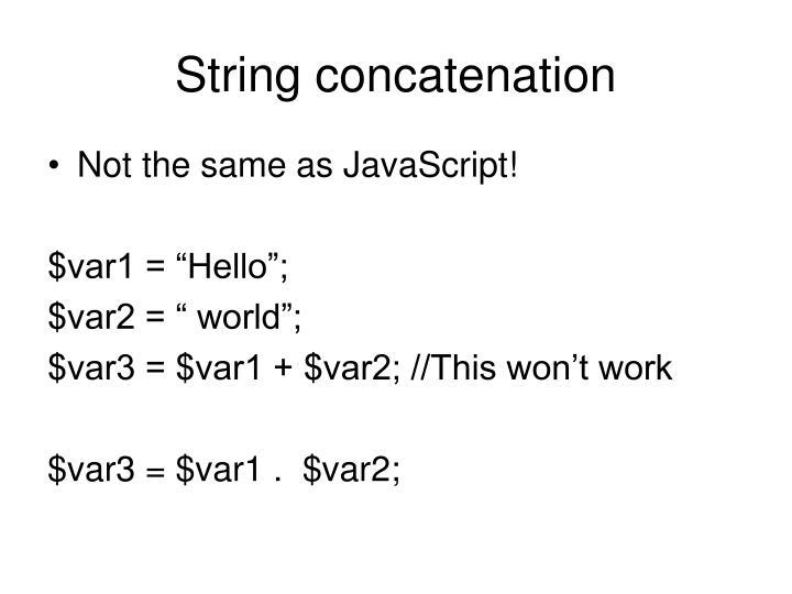 String concatenation