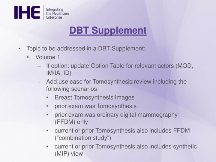 DBT Supplement