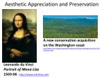 aesthetic appreciation and preservation