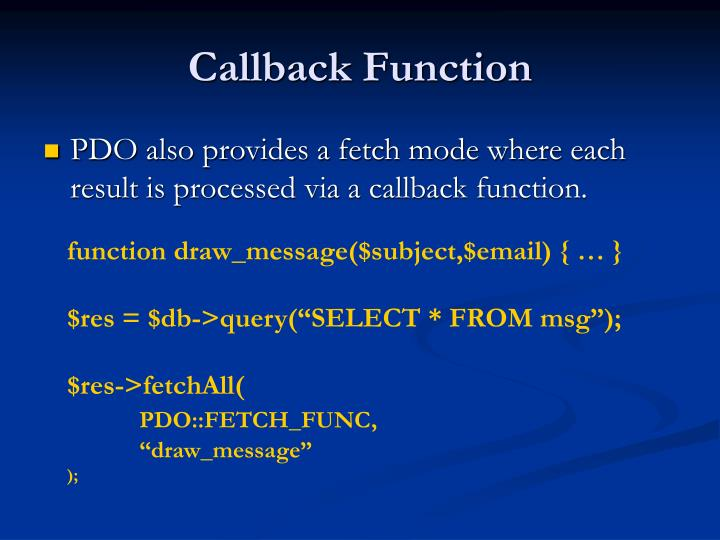 Callback Function