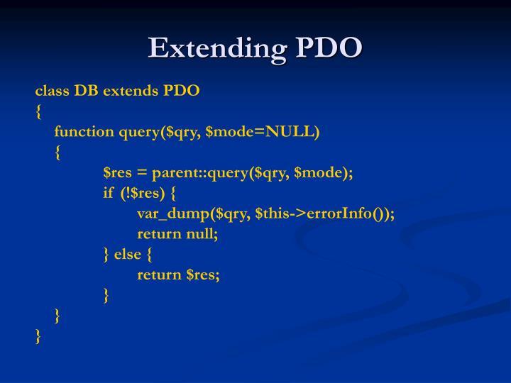Extending PDO