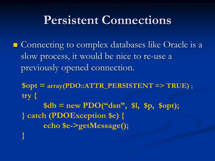 Persistent Connections