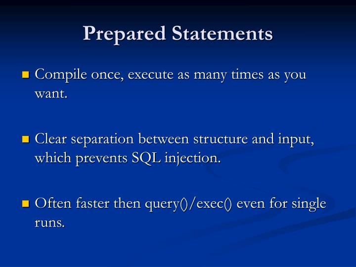 Prepared Statements