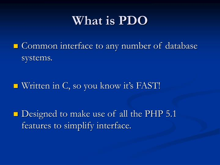 What is pdo