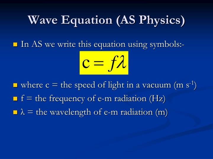 Wave Equation (AS Physics)