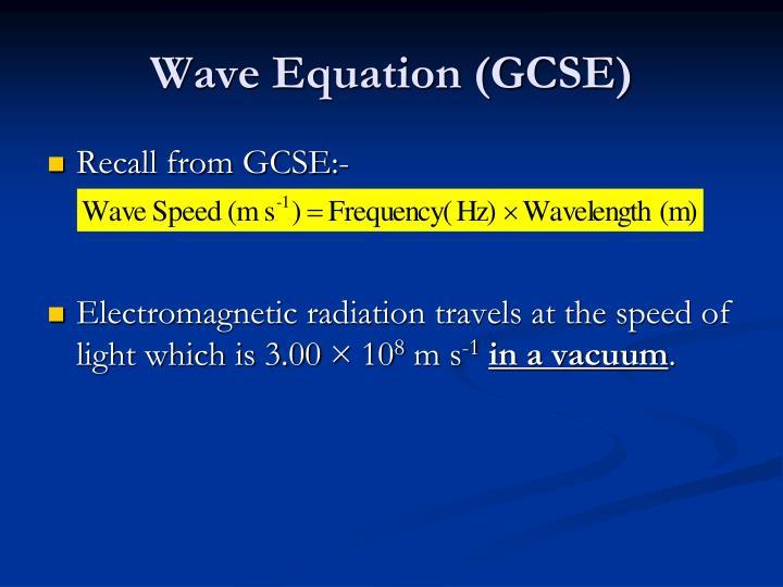 Wave Equation (GCSE)