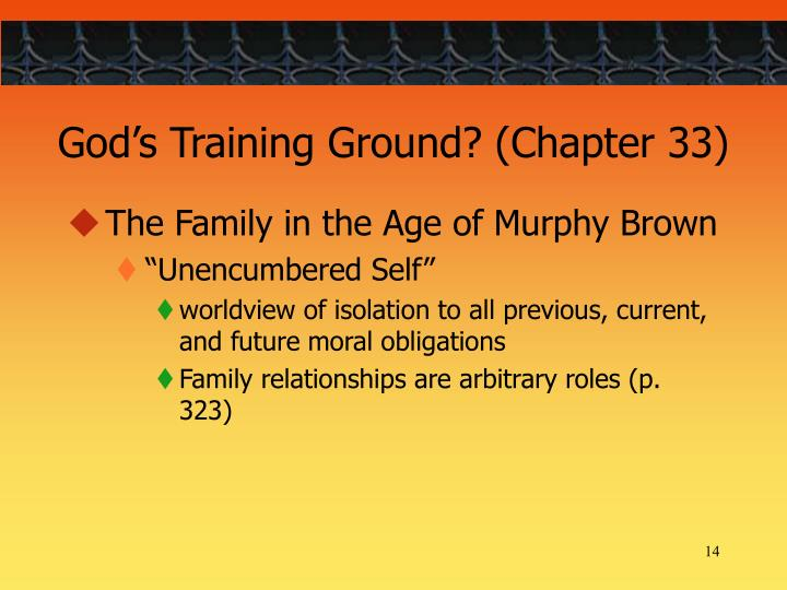 God's Training Ground? (Chapter 33)
