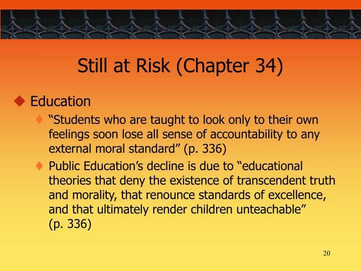 Still at Risk (Chapter 34)
