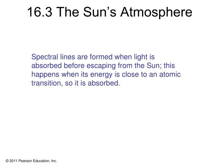 16.3 The Sun's Atmosphere