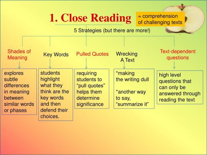 1. Close Reading