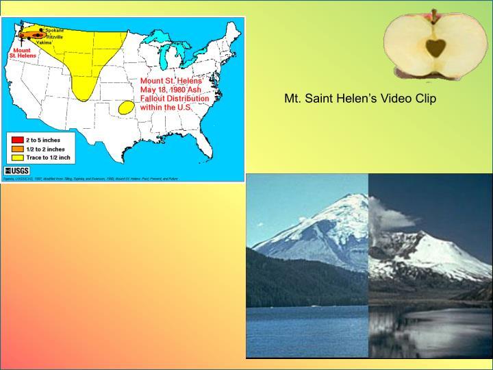 Mt. Saint Helen's Video Clip