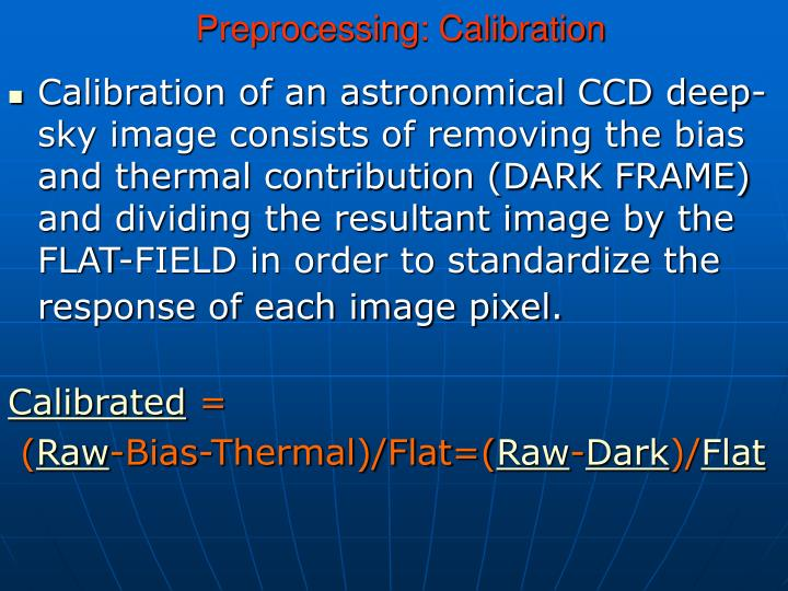 how to take bias frames ccd