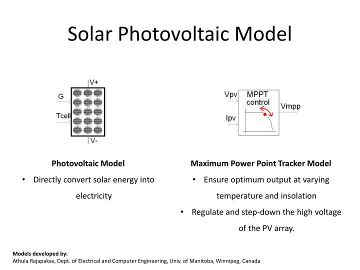 Solar Photovoltaic Model
