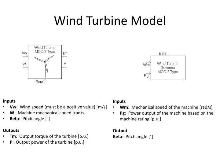 Wind Turbine Model