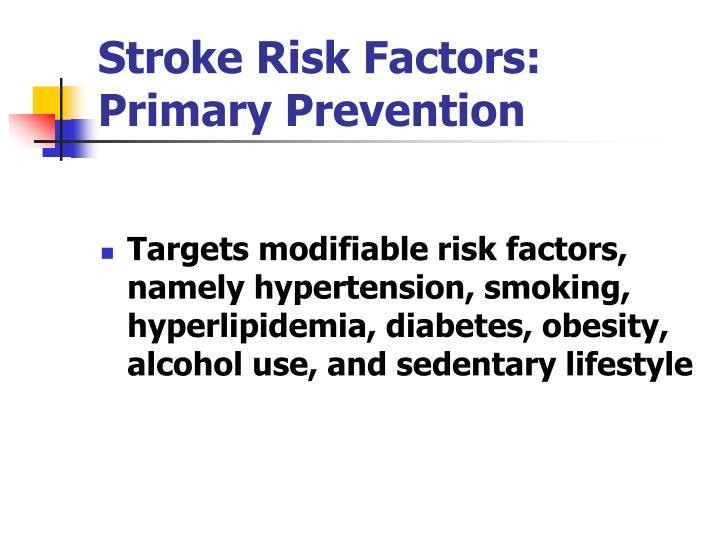 Stroke Risk Factors:  Primary Prevention