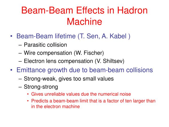 Beam-Beam Effects in Hadron Machine