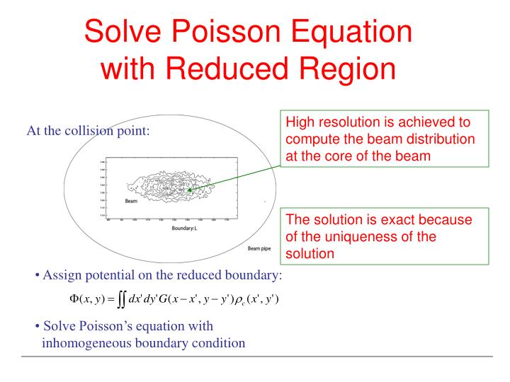 Solve Poisson Equation with Reduced Region