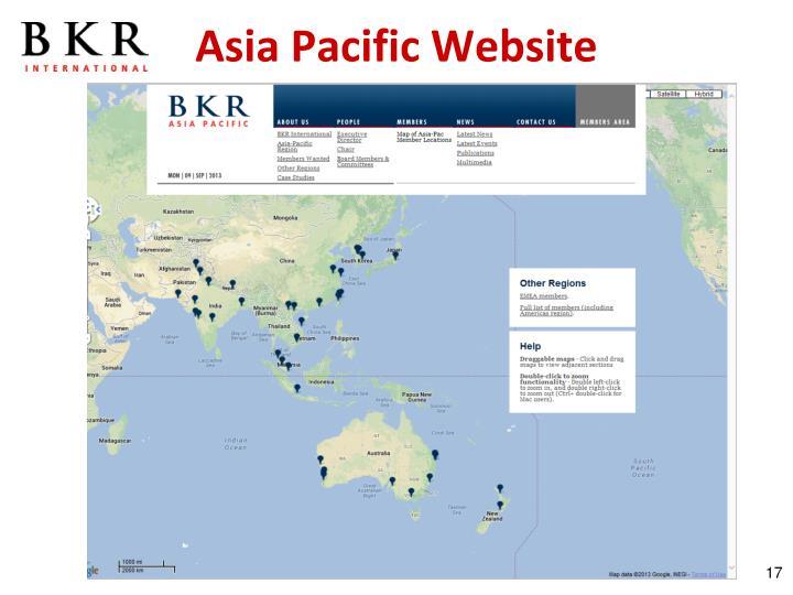 Asia Pacific Website