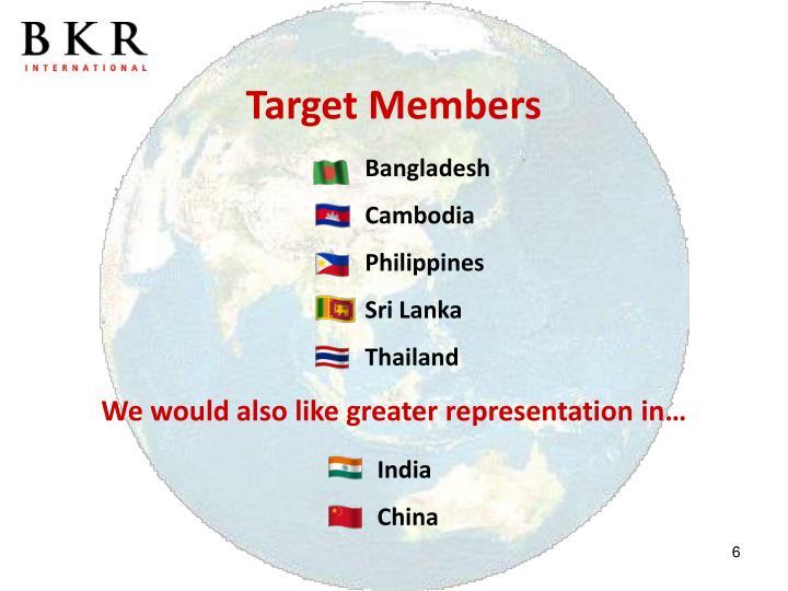 Target Members