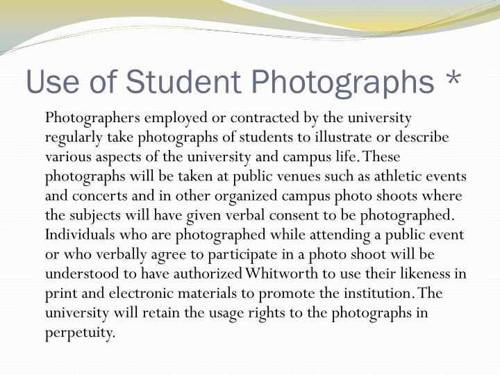 Use of Student