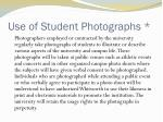 use of student photographs