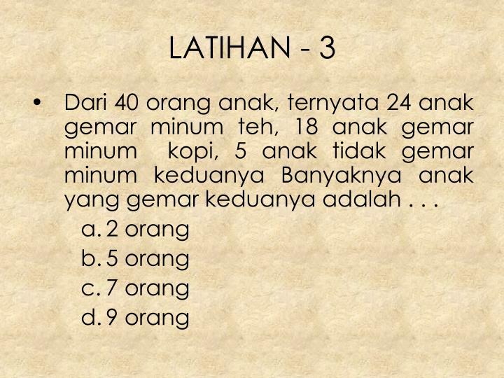 LATIHAN - 3