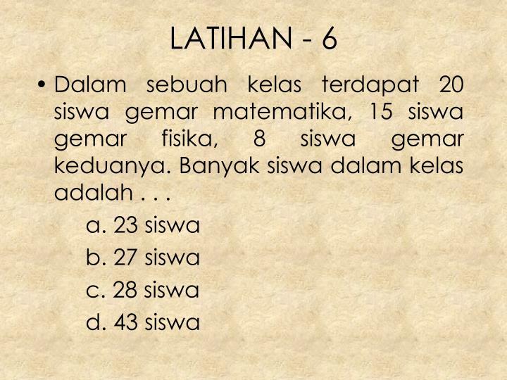 LATIHAN - 6