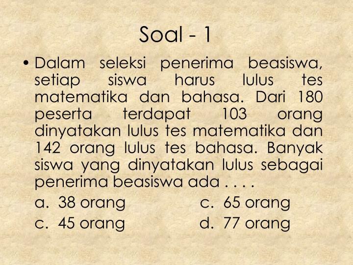 Soal - 1
