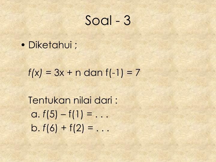 Soal - 3