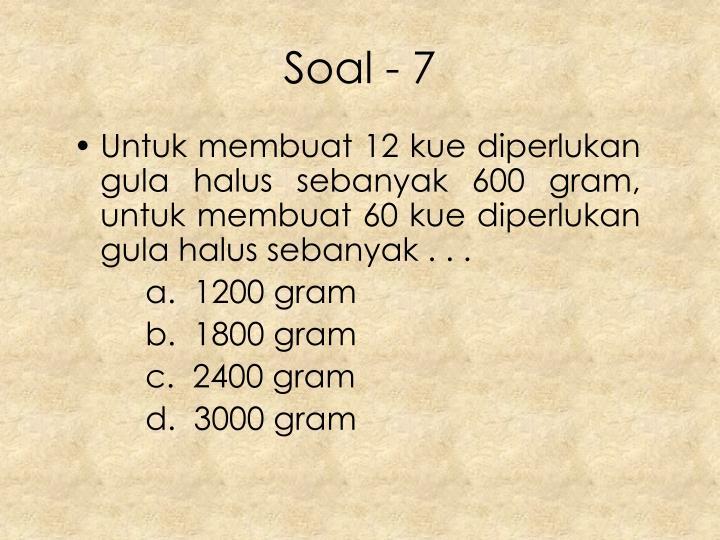 Soal - 7