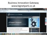 business innovation gateway www bignetpark co uk