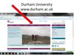 durham university www durham ac uk