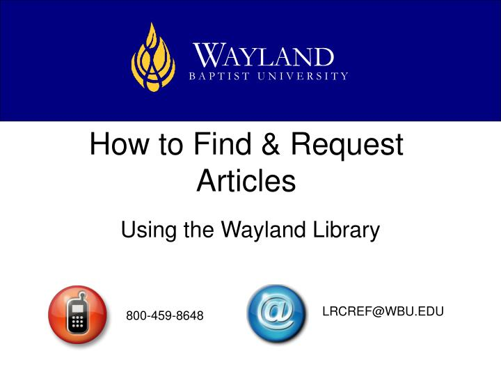 How to find request articles