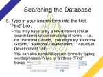 searching the database