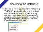searching the database1