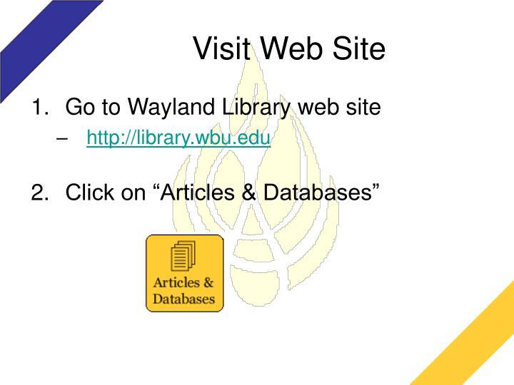 Visit Web Site