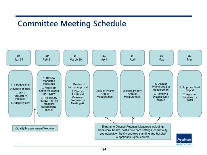 Committee Meeting Schedule