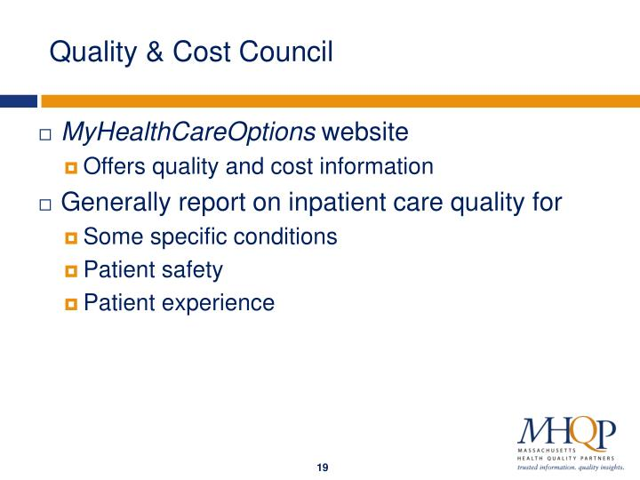 Quality & Cost Council