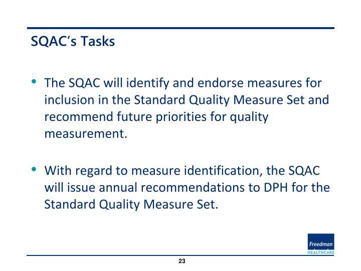 SQAC's Tasks