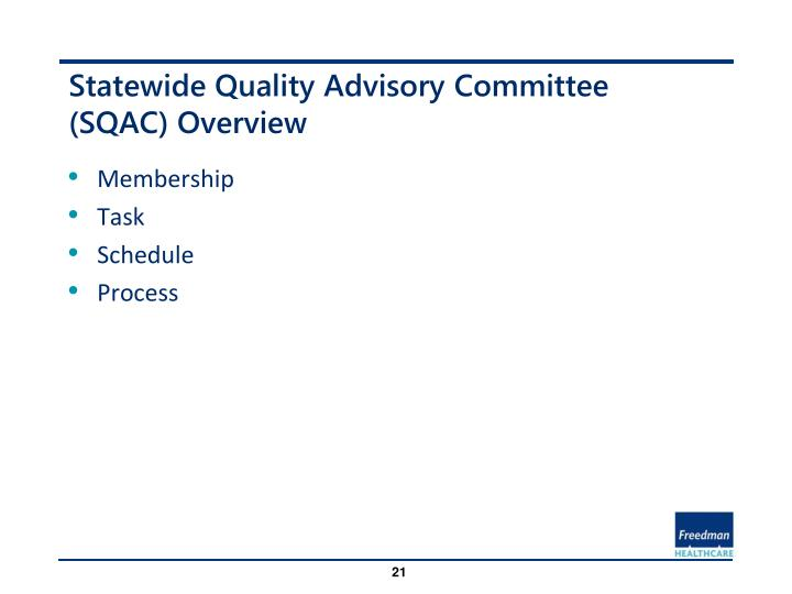 Statewide Quality Advisory Committee