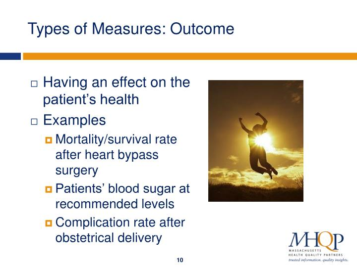 Types of Measures: Outcome